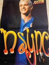 Justin Timberlake, NSYNC N Sync, Topher Grace Two Page Vintage Centerfold Poster