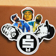 6pcs American Rapper Nipsey Hussle All Money In Logo Stickers Waterproof Decals