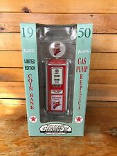 Gearbox Limited Edition 1950 Fire Chief Gas Pump Replica Coin Bank: New In Box