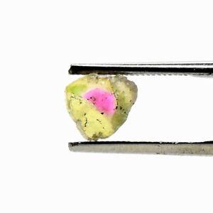 1.5ct 6mm Bi-Color Watermelon Tourmaline Slice Natural Crystal Cab - Afghanistan