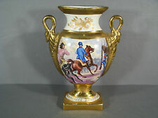 VASE STYLE EMPIRE EN PORCELAINE DE LIMOGES / VASE DECOR NAPOLEON / VASE EMPIRE