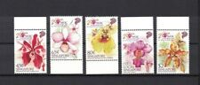 Singapur Singapore 2011 set of 4 stamps ** / mnh orchids Orchideen