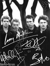 U2 - Bono Vox  - print signed photo - foto con autografo stampato