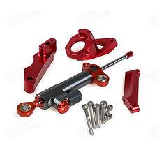CNC Steering Damper & Bracket Kit For Suzuki GSXR600/750 2004-2005 K4 K5 Red