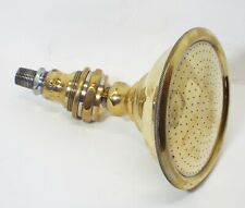 "LARGE 6"" Diameter Old BRASS SPRINKLER SHOWER HEAD Shower Fixture Plumbing"