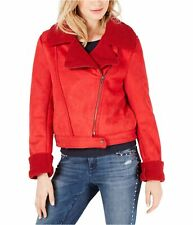 The Fifth Label Womens Sometimes Motorcycle Jacket, Red, Small