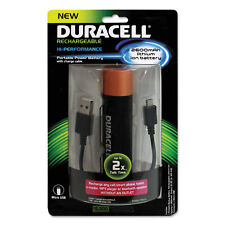 Duracell Portable Power Bank with Micro USB Cable 2600 mAh Red PRO515