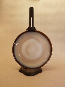 Rare Vintage Wooden Hanging Plate Holder - Dark Brown & Adjustable