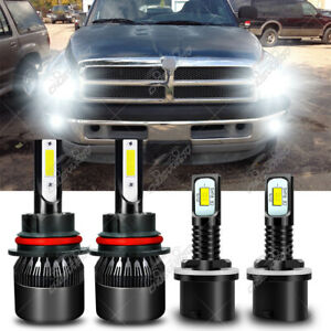 Para For Dodge RAM 1500 2500 3500 1994-1998 LED faro alto /bajo+luces antiniebla