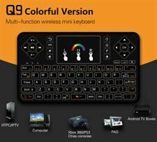 Q9 RPG 7-Color Backlight 2.4GHz USB Mini Wireless Keyboard Remote+Touch Mousepad