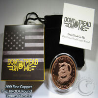 1 oz Pure Copper Coin 2nd Amendment; From My Cold Dead Hands in an Air-Tite