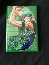 One Piece Tokyo Tower Animation 20th Anniversary Badge Pin Button Roronoa Zoro