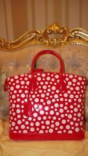 AUTHENTIC LOUIS VUITTON RED YAYOI KUSAMA LOCKIT MM Infinity POLKA DOTS TOTE