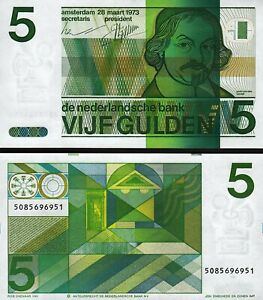 Netherlands 5 Gulden 1973, UNC, P-95