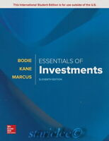 NEW 3 Days AUS Essentials of Investments 11E Zvi Bodie Marcus Kane 11th Edition