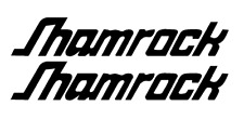 """PAIR OF 5""""X28"""" Shamrock Boat Hull Decals. MARINE GRADE. YOUR COLOR CHOICE"""