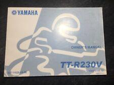 2006 Yamaha TT-R230V Motorcycle Owner's Maintenance Manual Dirtbike Motocross