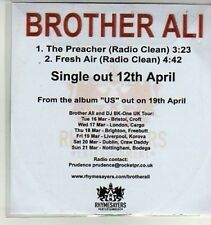 (AQ880) Brother Ali, The Preacher - DJ CD