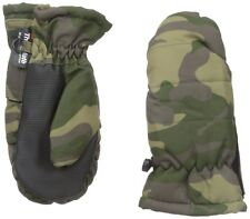 New Youth Nolan Gloves Big Boys' Ez Open Camo Green Black Ski Mittens Size 2-4T