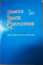 Famous Black Quotations & some not so famous.New.Janet Cheatham Bell.Original