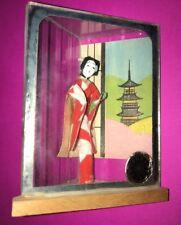 Japanese Geisha Doll In Glass Case 10cm