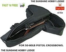 Pistol Crossbow Case Padded Pistol Xbow Bag For 50lb To 80lb Pistol Bows New UK