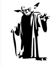 large Star wars Yoda  cut vinyl decals/sticker wall/door/car,/laptop/bedroom