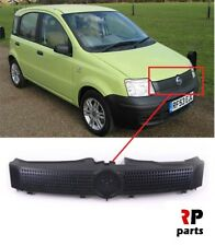 FOR FIAT PANDA ACTIVE/ACTUAL 2003 - 2012 NEW FRONT BUMPER CENTER GRILL BLACK
