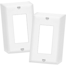 10 PACK 1-GANG UNBREAKABLE DECORATOR/DECORA/GFCI WALL PLATE OUTLET COVER, WHITE