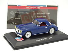 Ixo Presse 1/43 - Simca 8 Sport 1952 Bleue