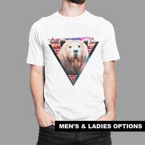 Cool T-Shirts Hipster Brown Bear Cub Funny T-Shirt Geometric Aztec Pattern Gift