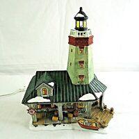 Santas Workshop Collection Lighted Windyhill Lighthouse 2000 Vintage