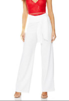 RRP £25 Ex Quiz BRAND NEW Cream Crepe Wide Leg Trousers UK 8 10 12 14 16 18