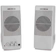 Sound Force 540 Computer Speaker Pair Without Power Supply