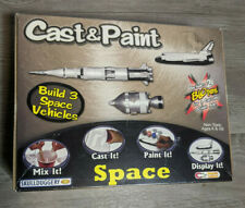 NEW SKULLDUGGERY CAST & PAINT 3 SPACE VEHICLE MODEL KIT SHIP ROCKET AND CONE