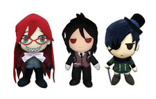 Official Ciel, Grell, & Sebastian Black Butler Anime Stuffed Plush Doll Set of 3