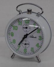 """Vintage alarm clock - Älterer mechanischer weisser Wecker """" Atlanta """" Uhr"""