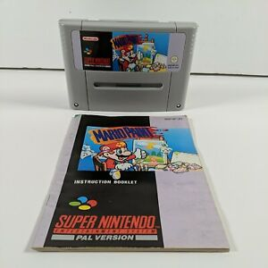 Mario Paint -Super Nintendo (SNES) - PAL - Manual - Free P&P