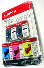 NEW - RARE, SEALED CANON BCI-3E BUBBLE JET CARTRIDGE SET (2BK, 1Y, 1M, 1C)