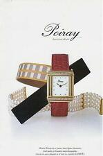 ▬► PUBLICITE ADVERTISING AD Montre Watch POIRAY 1998