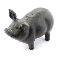 Cast Iron Pig Hog Piglet Garden Statue Kitchen Farmhouse Counter Decoration