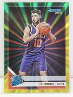 Ty Jerome RC 2019-20 Donruss Green & Yellow Laser Holo Rated Rookie Card #222
