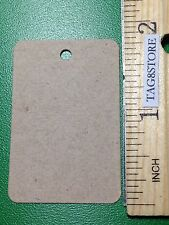 100 BLANK KRAFT HANG TAGS 1-1/4 X 1-7/8  BROWN BAKERY PRICE Tag Unstrung Craft