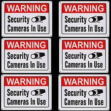 METAL HOME SECURITY ALARM SPY CAMERA SYSTEM BURGLAR WARNING YARD SIGN LOT
