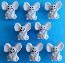 TINY MICE - Cute Baby Mouse Grey Animal Rodent Dress It Up Novelty Craft Buttons