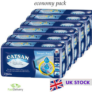 Catsan Smart Pack Simple  Hygienic Handling and Disposal  Economy Pack: 6 x 2