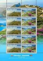 👉 GIBRALTAR 2019 NATIONAL PARKS M/S of 5 MNH JOINT ISSUE w/ROMANIA FV£~15.00