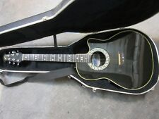 Ovation acoustic/electric guitar model # 1862 custom balladeer with hard case