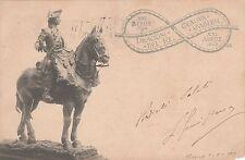 GENOVA CAVALLERIA DRAGONI DEL RE 1796-1903 CARTOLINA REGGIMENTALE TORINO MILANO