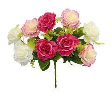 CREAM & PINK Centerpieces Roses Silk Wedding Flowers Decoration Bridal Bouquet